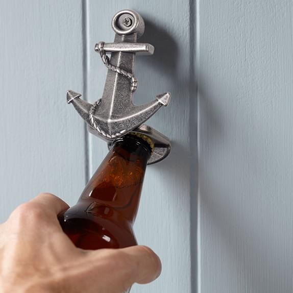 Novelty Wall-Mounted Bottle Opener, Anchor