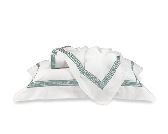 Classic Greek-Key Bedding, Sheets Set, Full/Queen, Seafoam