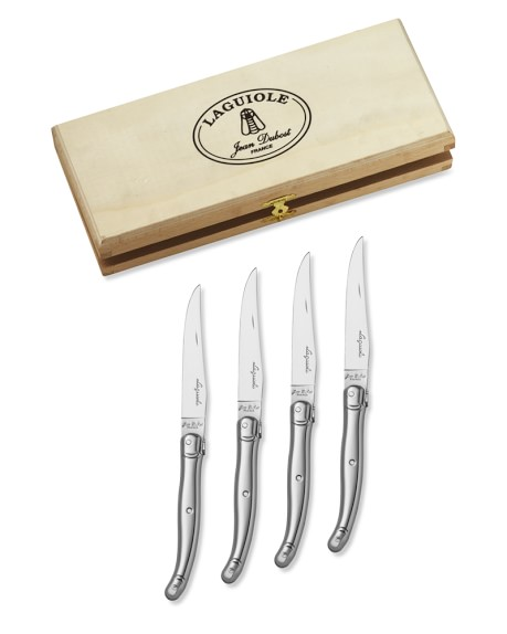 Laguiole Jean Dubost Stainless-Steel Steak Knives, Set of 4