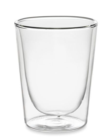 Double-Wall Glass Tumblers, Set of 4, Short