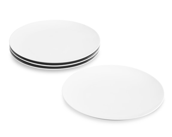 Pillivuyt Coupe Porcelain Buffet Plates, Set of 4