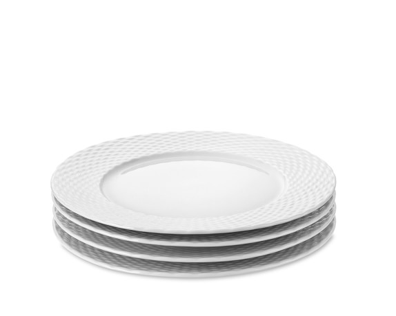 Pillivuyt Basketweave Porcelain Salad Plates, Set of 4