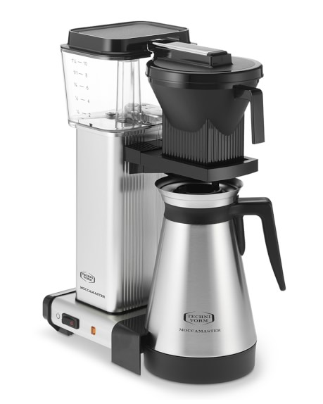 Technivorm KBGT741 Moccamaster Coffee Maker with Thermal Carafe, Brushed Silver