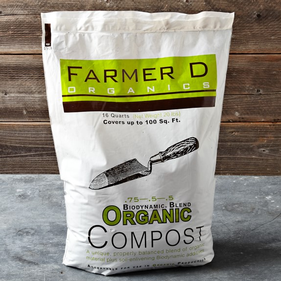 Farmer D Biodynamic Blend Organic Compost Mix, 16-Qt. Bag