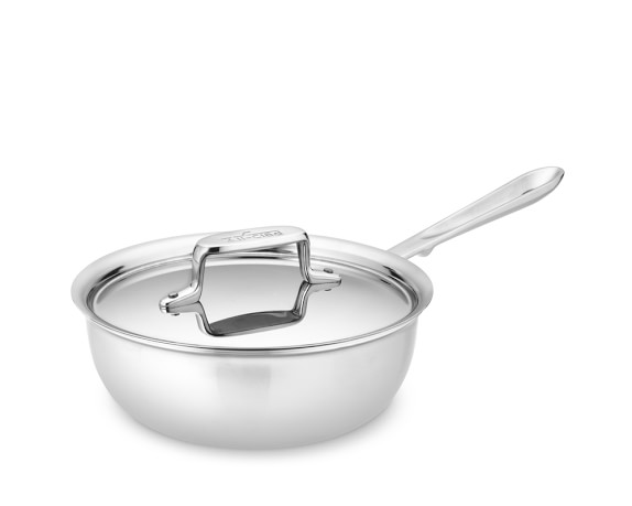 All-Clad Stainless-Steel d5 Saucier, 2-Qt.