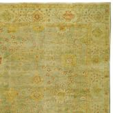 Green Meadows Oushak Rug Swatch