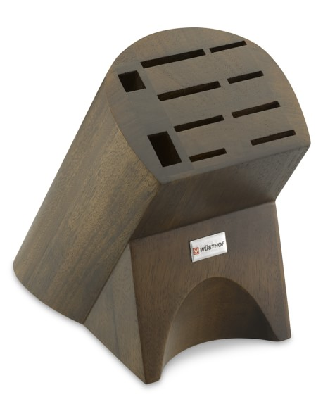 Wüsthof 10-Slot Knife Block, Burmese Walnut