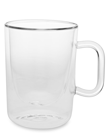 Double-Wall Glass Coffee Cups, Set of 2