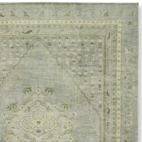 Hand-Knotted Blue Lagoon Rug Swatch
