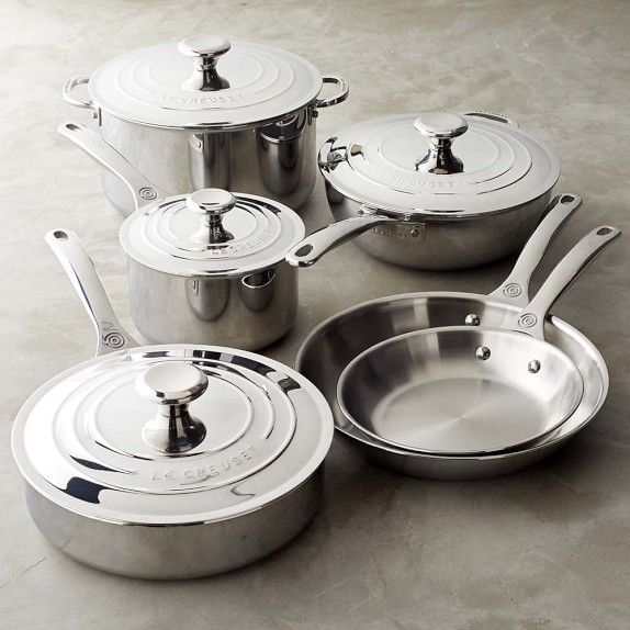 le creuset stainless steel 10 piece set williams sonoma. Black Bedroom Furniture Sets. Home Design Ideas