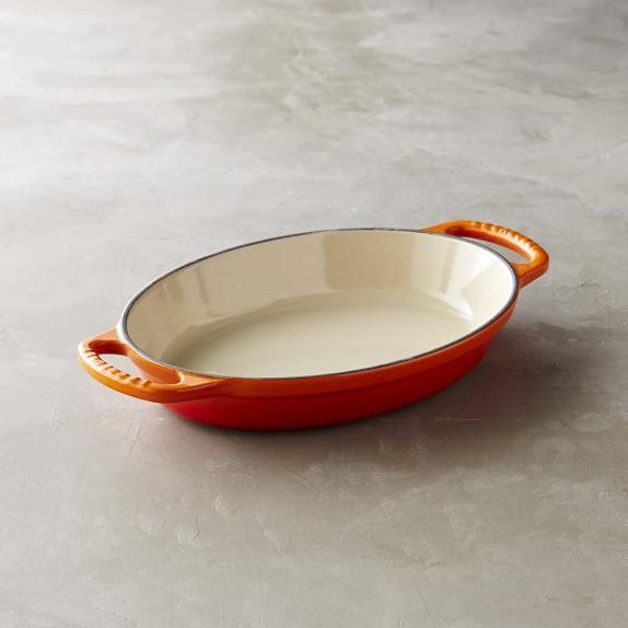 Le Creuset Cast-Iron Oval Baker, 1-Qt., Flame