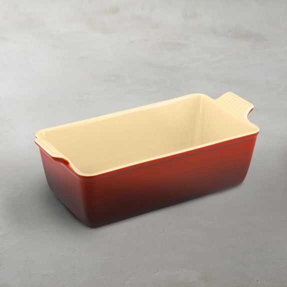 Le Creuset Heritage Stoneware Loaf Pan, Small, Red