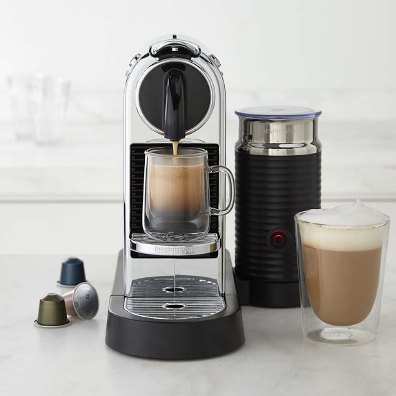 Nespresso Citiz Espresso Maker with Milk Frother, Chrome