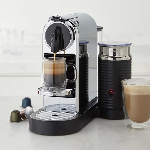 home coffee machine with milk frother