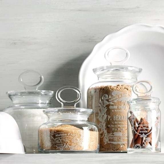 decorative french canisters set of 4 williams sonoma
