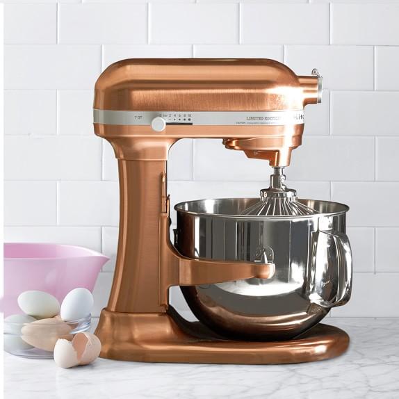 Kitchenaid pro line copper stand mixer 7 qt williams sonoma - Kitchenaid qt mixer review ...