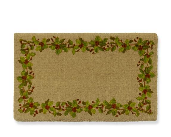 Plain Holly Coir Doormat, 22