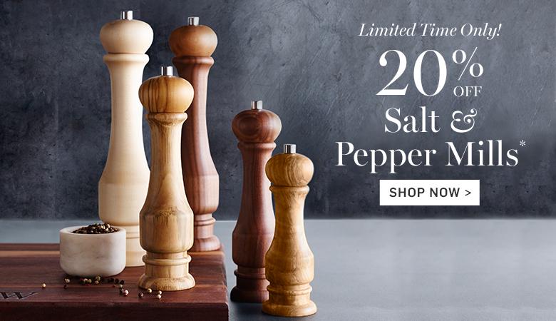 20% Off Salt & Pepper Mills