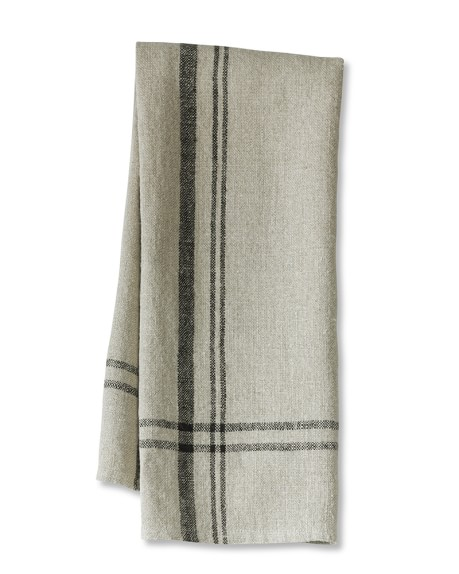 Calias Stripe Towels, Set of 2, Black