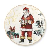 Twas The Night Before Christmas Round Santa's List Platter