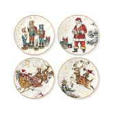 Twas The Night Before Christmas Salad Plates, Set of 4, Multi