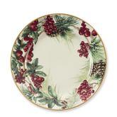 Botanical Wreath Dinner Plates, Set of 4
