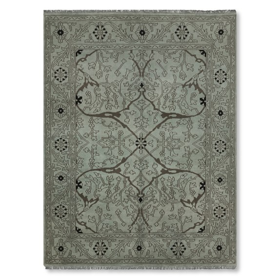 Spice Market Overdyed Rug, Teal