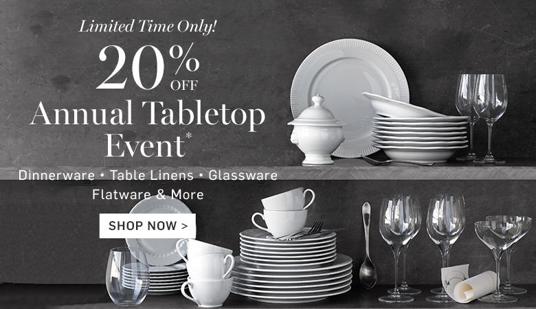 20% Off Annual Tabletop Event