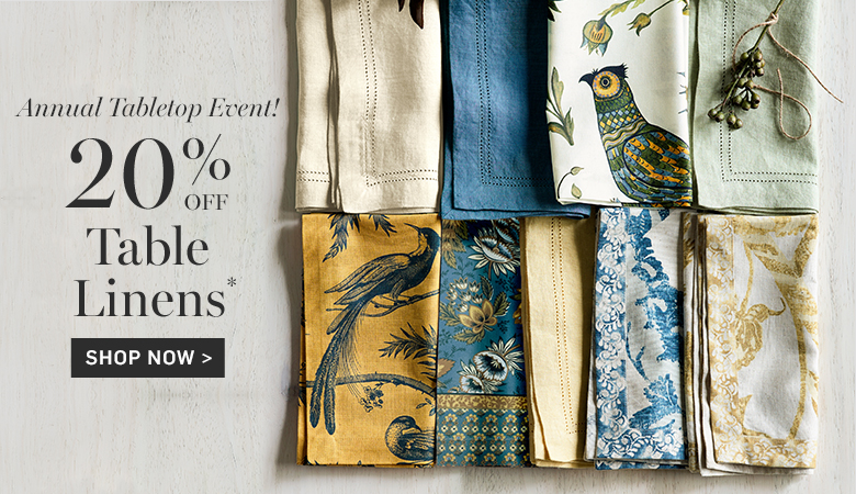20% Off Table Linens
