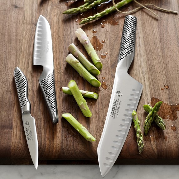 global classic 3 piece master chef knife set williams sonoma. Black Bedroom Furniture Sets. Home Design Ideas