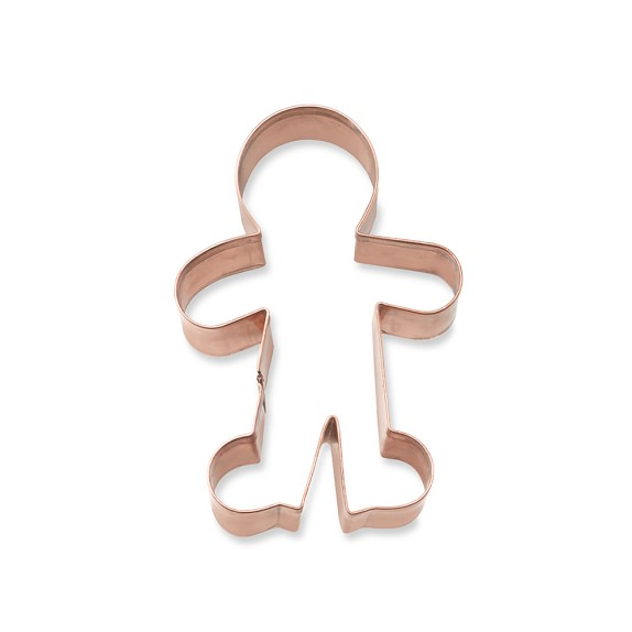 Gingerbread Boy Copper Cookie Cutter, Small