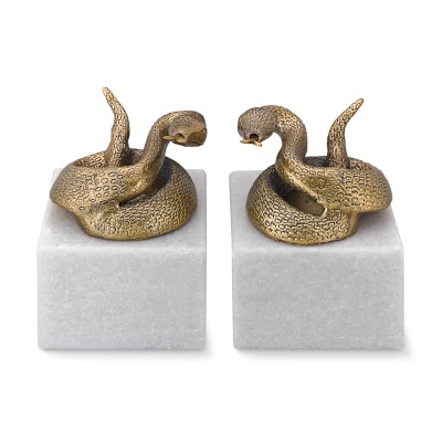 Snake Bookends Set Of 2 Williams Sonoma