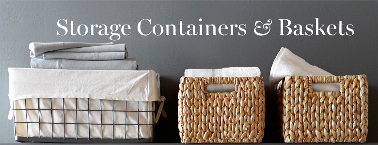 Storage Containers & Baskets