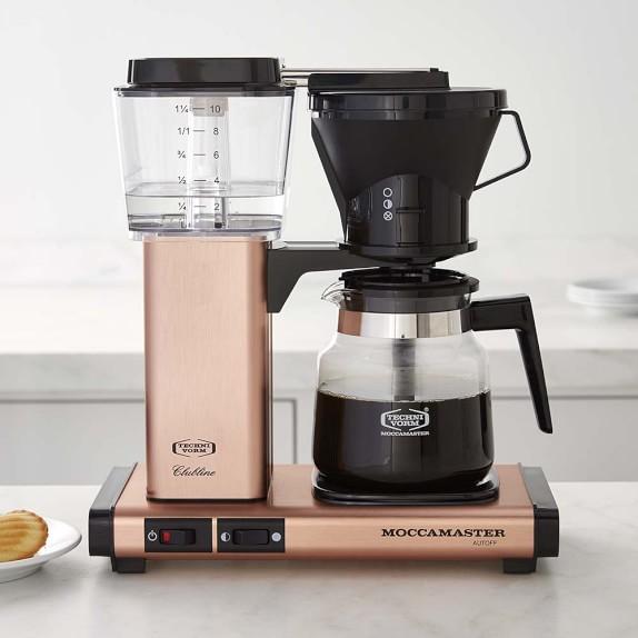 img49c Moccamaster Coffee Maker Technivorm Glass Coffee Maker Copper Williams Sonoma