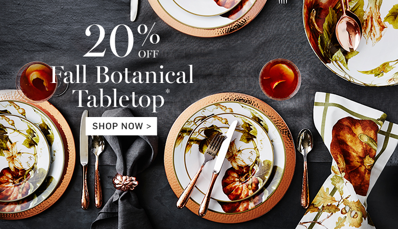 20% Off Fall Botanical Tabletop