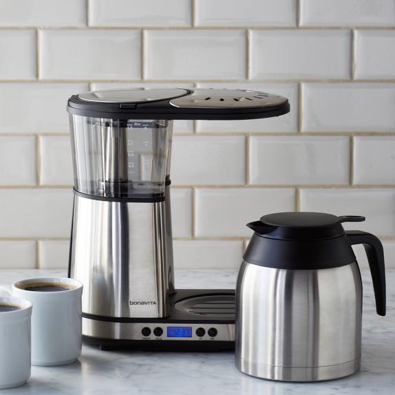 Bonavita Coffee Maker Williams Sonoma : Bonavita 8-Cup Digital Brewer with Stainless-Steel Carafe Williams-Sonoma