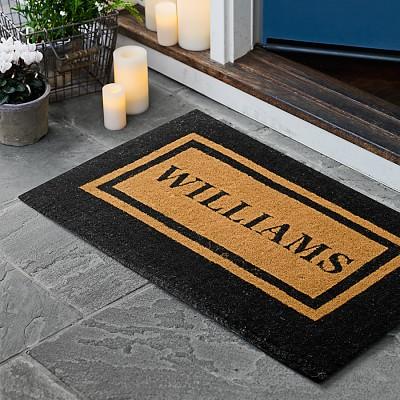 Personalized Double Border Doormat Williams Sonoma