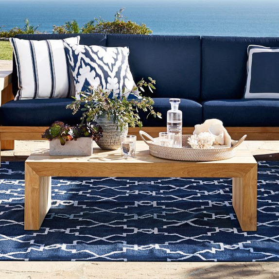 Moroccan Gate Indoor Outdoor Rug Navy