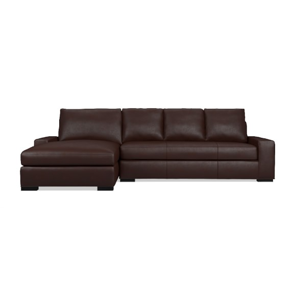 Robertson 2 Piece Leather Chaise Sectional Left