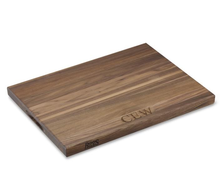 boos edgegrain rectangular cutting board, walnut  williams sonoma,