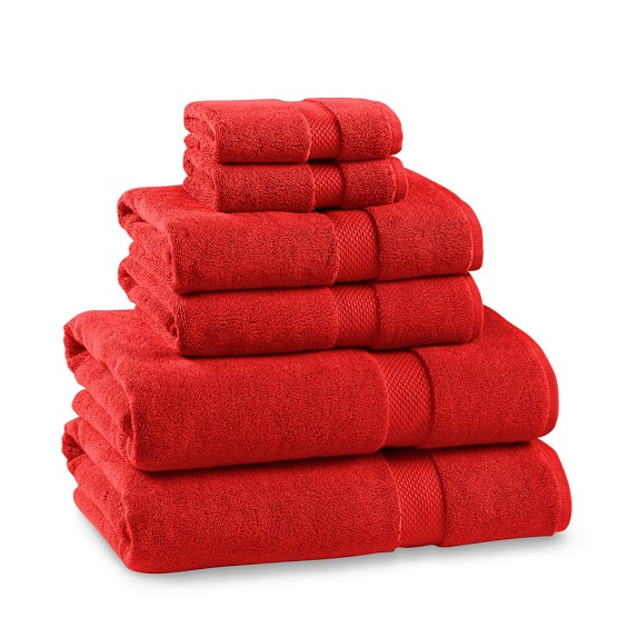 Red Towels Bathroom: Chambers® Heritage Solid Towels, Red