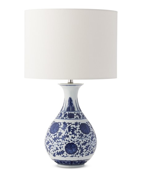 home lighting table lamps flared ginger jar table lamp blue and white. Black Bedroom Furniture Sets. Home Design Ideas