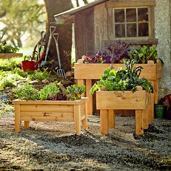 18 Edible Garden Designs Ideas: Farmer D Cedar Bed-on-Legs Kit, 2' X 4'