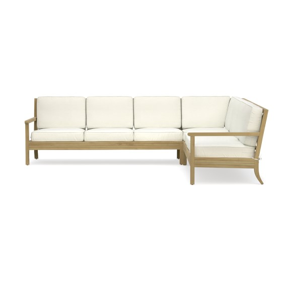 Somerset 3 Piece L Shaped Outdoor Teak Sofa Sectional