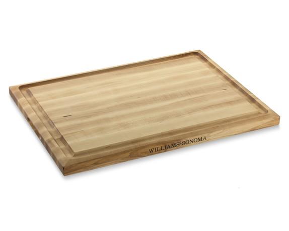 Williams sonoma edge grain carving board maple
