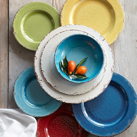 Rustic Melamine Dinnerware Collection Williams Sonoma