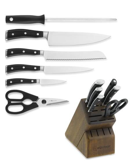 W sthof classic ikon 7 piece knife block set williams sonoma for Wusthof kitchen essentials set 7 piece