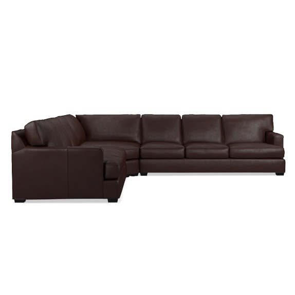 Jackson 3 piece l shaped leather wedge sofa sectional for 3 piece sectional sofa with wedge