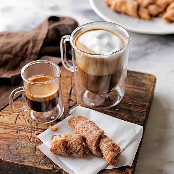 Espresso Coffee Cups ~ Double wall glass coffee cups williams sonoma