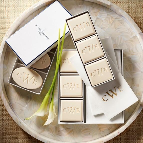 williams sonoma home monogrammed soap  u0026 towel gift set